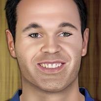 Andres Iniesta Makeup